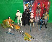 Star Wars Rebels KANAN, Ezra + Speeder, SABINE WREN, Vader, AHSOKA TANO - Used