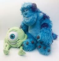 """Monsters Inc Sully 19"""" And Mike Wasowski 8"""" Plush Lot Of 2"""