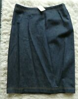 NWT Escada Margaretha Ley Womens Denim Knee Length Pencil Skirt Blue Size 36