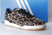 Adidas Men's Sneakers Continental 80 Leopard Print Hair F33994 White Gum W/ Box