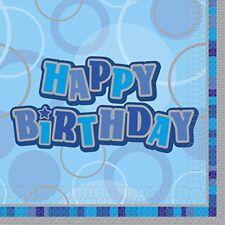 Tutto blu carta compleanno adulto per la tavola per feste e party