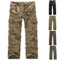 Men's Baggy Camo Military Army Cargo Combat Pants Trousers Casual Outdoor Pants