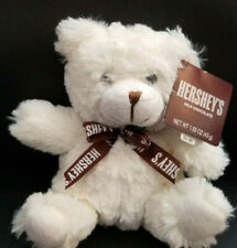 "Hershey's Chocolate White Teddy Bear With Hershey's Neck Bow Plush -7"" W/Tag"