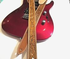 CUSTOM LEATHER GUITAR STRAP PERSONALIZED WITH YOUR NAME.