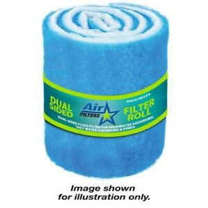 """6 Feet of Blue and White Air Filter Media Roll MERV6 Polyester Media - 25"""" Wide"""