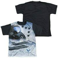 Air Force Pilot Youth Black Back T-Shirt (Ages 8-12)