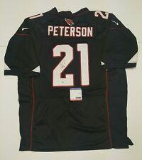 PATRICK PETERSON Signed Autograph Arizona Cardinals Black Jersey Size 52. PSA