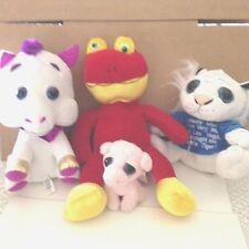 4 Big Eyed Stuffed Plush Animals