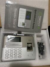 Timedox Silver Biometric Fingerprint Time Clock For Employees