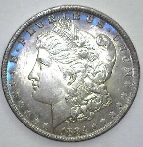 1884-O MORGAN SILVER DOLLAR GEM+ UNCIRCULATED+ NICE TONING!!