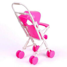 Assembly Baby Buggy Stroller Dollhouse Nursery Furniture Toy For Barbie Doll Set