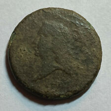 1793 1/2c Liberty Cap Flowing Hair Half Cent Facing Left Early Copper Coin