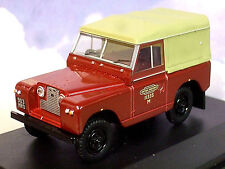 OXFORD 1/43 LAND ROVER SERIES 2 II S2 SWB CANVAS BACK BRITISH RAIL BR 43LR2S002