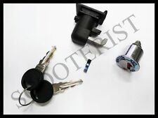 Vespa Steering Toolbox Lock Set Two Keys Black Bajaj Classic SL 150cc 125cc