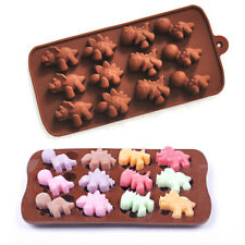 15Cavity DINOSAUR Silicone Fondant Cake Topper Mold Mould Chocolate Candy BakinG