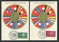 "FRANCE MK 1960 EUROPA CEPT ""STRASBOURG"" 2 MAXIMUMKARTEN MAXIMUM CARD MC CM c9498"