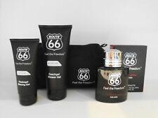 ROUTE 66 Feel the Freedom 4 tlg. Set EDT100 ml, DB 200 ml, Rasiergel100ml,Tasche