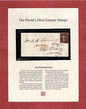 1841 Mourning Envelope 1d Penny Red Westminster Folder Authenticity Certificate