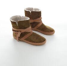 Isabel Marant Étoile Nygel Damen Ankle Boots Lammfell Stiefeletten Gr 40 Braun