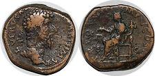 LUCIUS VÉRUS Sesterce TR POT III - COS III +168 ROME