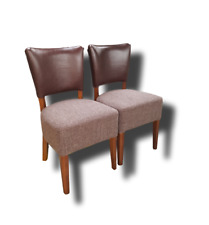 WINSTON/SENA SOLID WOOD DINING CHAIR WITH UPHOLSTERY SEAT& BACK 100%REAL LEATHER