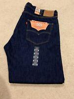MENS LEVIS 501 MADE IN USA ORIGINAL FIT WHITE OAK CONE DENIM Blue Jeans 42/30