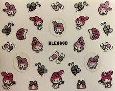 Nail Art 3D Decal Stickers Hello Kitty Bunny My Melody Bumble Bee Candy BLE988D