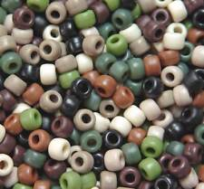 Camouflage Mix Matte Jolly Store Crafts 9x6mm Pony Beads 500pc Made in the USA