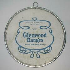 Vintage Asbestos Glenwood Ranges Trivet Milo, ME Daggett & Hamlin Advertising