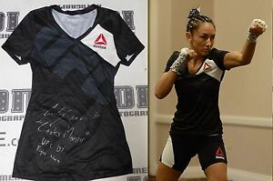 Carla Esparza Signed UFC 197 Fight Worn Used Walkout Shirt PSA/DNA Auto'd v Lima