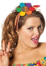 Regenbogen Hippie Power Haarband NEU - Karneval Fasching Hut Mütze Kopfbedeckung
