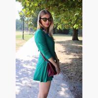 RARE!!! Zara Trafaluc Tie Back Green Jumpsuit