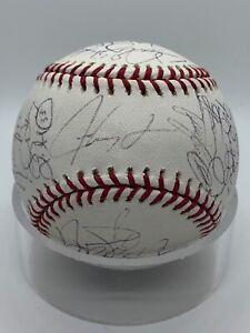Texas Rangers 2007 Team Signed by 31 Ian Kinsler Autograph Baseball