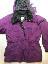 H1) Vintage Purple Goretex REI Hooded Parka Jacket Coat USA Size Large