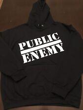 Public Enemy Hoodie Sz Medium Black Vinyl Print  Supreme NEW Hip Hop M