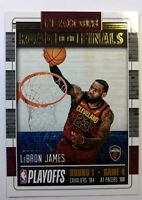 2018 18 Panini NBA Hoops Road to the Finals LeBron James #30, #'d /2018, Round 1