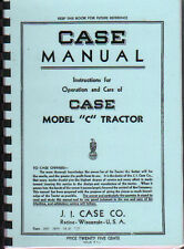 """Case Model """"C"""" Tractor Instruction Manual Book"""