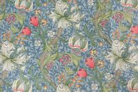 "WILLIAM MORRIS CURTAIN FABRIC ""Golden Lily"" 1 METRE MINERAL LINEN UNION"