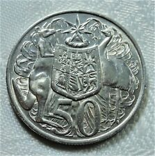 Australia/ Australien 50 Cent SILBER 1966 Känguru & Emu st/ unc