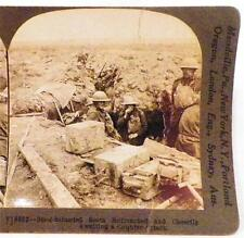 World War I Stereoview Scottish Soldiers Waiting Attack Keystone View Co