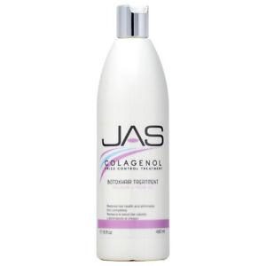 JAS Colagenol Frizz Control Treatment Botoxhair Treatment 16oz w/Free Nail File