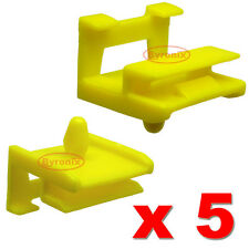 BMW 5 SERIES E60 E61 SIDE SILL SKIRT TRIM CLIPS PLASTIC MOULDING ROCKER YELLOW