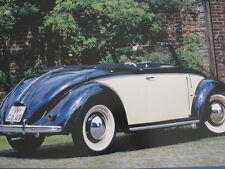 Poster Volkswagen ( VW ) Käfer Hebmüller Cabriolet 1949 - 1950