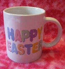 Collector Happy Easter Mug Cup Coffee Tea Patchwork Egg Msi Pastels White 4:i4