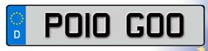 PO10 GOO Cherished Reg Number Plate VOLKSWAGEN POLO 6R GTI VW LOW FAST GO