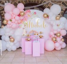 Stunning Pastel Pink, White & Chrome Gold Balloon Garland Kit-Party Decorations