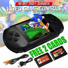 16 Bit PXP3 Portable Video Game Handheld Console 150 Retro Megadrive Black