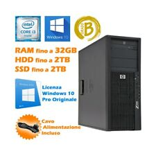 COMPUTER DESKTOP WORKSTATION HP Z200 TOWER I3 530 WINDOWS 10 PRO DVD-