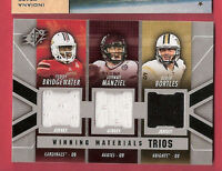 JOHNNY MANZIEL & TEDDY BRIDGEWATER 3 ROOKIE JERSEY CARD BLAKE BORTLES VIKINGS