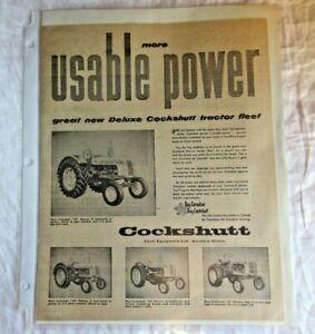 1956 Cockshutt 20 35 40 50 tractor print ad